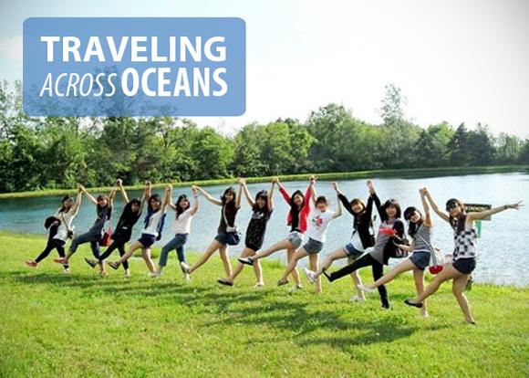 Traveling across oceans